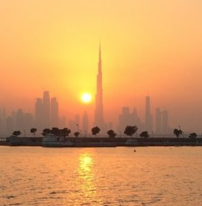 Sunset on the Burj Khalifa